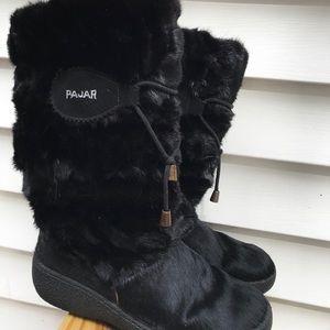 PAJAR black fur boots